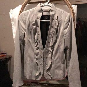 White House Black Market ruffled blazer. 4
